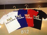 2014 New's brand fashion boy's t-shirt O-neckshort sleeve shirt, blue white black red colors pure cotton leisure boy's  t-shirt