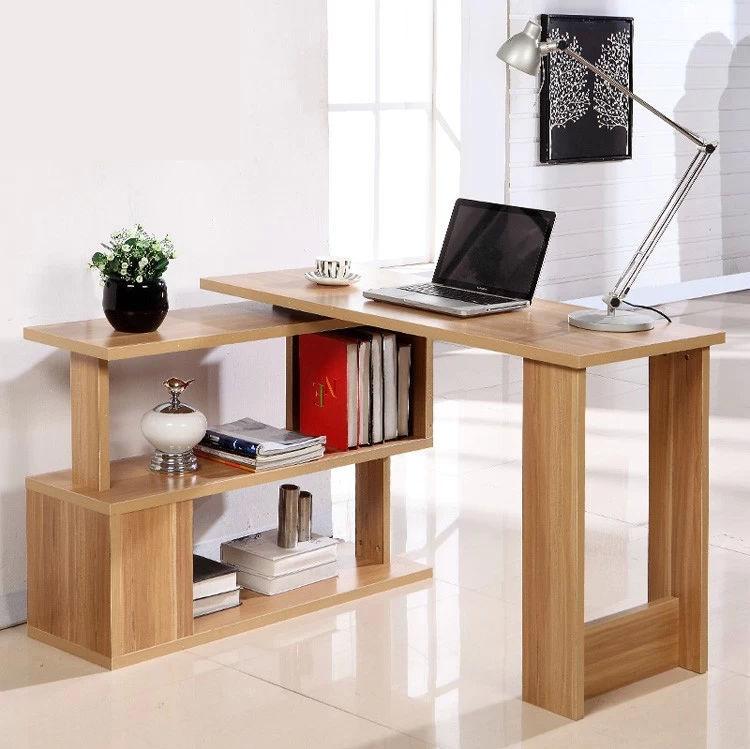 Minimalist corner computer desk images.