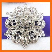Gorgeous  rhinestone brooch  for Wedding  200pcs/lot  65mm