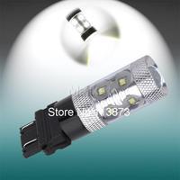 10pcs 3156 3157 P27/7W T25 60W Cree LED White Lamp car Fog Head Bulb auto Vehicles Turn Signal Tail Brake car light source