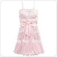 2014 New Fashionable Elegant Sweetheart Big Bow Flower-net Bra Girl Party Dress/Evening Dresses Z-LS0016