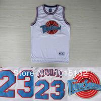Michael Jordan 23 Space Jam Jersey, White Jordan Basketball Jersey Tune Squad Jersey Free Shipping