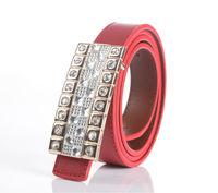 Womens Rhinestone Buckle Ladies Belt Genuine Leather Waistband FREE SHIPPING