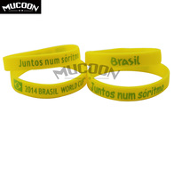 2014 World Cup soccer fans wristband / bracelet strap Brazil fans / Brazilian flag silicone bracelet hand ring 10PCS/LOT