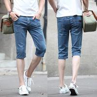 ..*-*..Spring Summer style Korean Slim / zipper men's Shorts / fashion s casual cotton pants feet