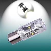 2pcs 1156 BA15S P21w led 30W Auto Pure Fog Tail Turn CREE XBD LED S25 Light Bulb Lamp parking Reserve Lights car light source