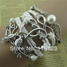 wholesale pearl silver bracelet
