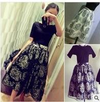 2014 European Grand Prix gorgeous new spring wild print organza skirt skirts women 959