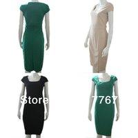 1X 2013 New Ladies Women Solid Retro Elegant Dresses Rockabilly Bodycon Business Party Pencil Wiggle Dress Plus Size XXL 652715