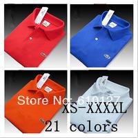 New 2014 Men Fashionable cotton Sport T-Shirt Clothing Casual Short sleeve Turn -down collar Men Size XS-XXXXL large size