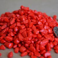 Red small stone 400kg toy fish tank yangtz wedding decoration
