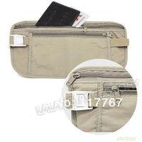2014 Safe Travel Money Passport Waist Packs Security Waist Belt Strap Holders Gtay Nylon Wallets Bags Purses 2pcs/lot 640245