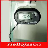 7173  Free shipping for retail by China post LCD Digital Fish Tank Aquarium Temperature Thermometer Water Terrarium Black TK0215