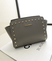 2014 fresh Women handbag Rivet handbag high quality  shoulder bag famous bag Pop Fashion Style  Street bag Messenger bag