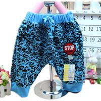 Children's summer clothing child summer pants print harem pants