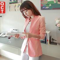 Qct spring outerwear 2014 female blazer outerwear slim lace long-sleeve women's blazer