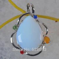 Opal Bead Inlay Pendant Jewelry Free shipping S740