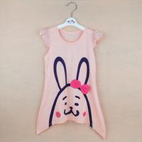 2014 children's summer clothing female child nightgown