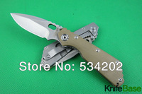 New 2014 STRIDER SMF SNG PT steel blade folding knife Green G10 HANDLE 5Cr13Wov 56HRC Sanding tactical survival knives 5pcs
