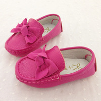 2014 spring and autumn baby gommini loafers 1 - 3 years old girls bow shoes genuine leather cowhide shoes