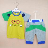 2014 children's summer clothing male child t-shirt harem pants set