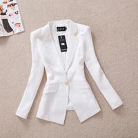 [R&V] 2014 spring women blazer slim gold one button blazer autumn outerwear ol female casual blazer plus size RS6562