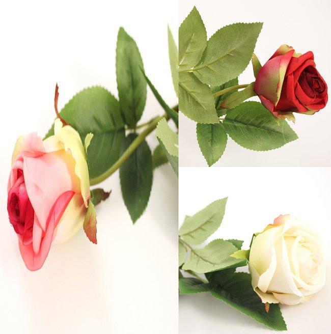 1pc frete grátis flor rosa tronco artificial toque real deslumbrante festa de casamento aniversário decoração, vermelho, branco, rosa 610062(China (Mainland))