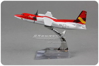 14cm Alloy Avianca Colombia Airlines Airplane Model Fokker F-50 Red HK-4581Airways Plane Model Toy Free Shipping