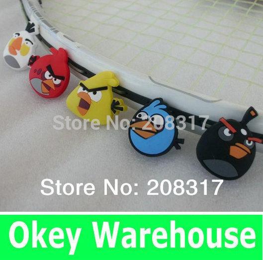 Free Shipping - Cartoon bird tennis racquet vibration dampener / damper - Tennis Racket Accessories(China (Mainland))