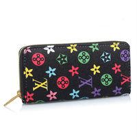 Ladies Fashion Design PU Leather Mens Wallet Zip Purse Clutch