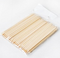 100Pcs Orange Wood Sticks Nail Art Care Salon Cuticle Pusher Remover Manicure Tool