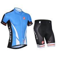 SWODART Hot!!!2014 Fast Shipping!Summer Best Selling Cas Cycling Jersey+BIB Short Set Size:S-XXXL
