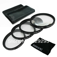 RISE(UK) 77mm Professionla Close Up filter Macro Camera Lens kit for NIKON D3000 D5000 D3100 D5100 18-55MM Free Shipping+gift