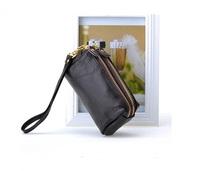 2013 women's cowhide double zipper day clutch candy bag coin purse bag women's handbag