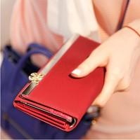 Pear doll wallet female bow long design women's wallet women's wallet