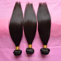 Rosa Hair Products Unprocessed Indian Virgin Hair Straight 3/4Pcs/lot 100% Human Hair Extensions Tangle Free Natural Black Hair