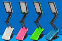 Wholesale-LED Folding Clip Desk Lamp 360 rotating adjustable charged eye shield 2835SMD-22LED superbright,HR20140405