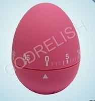 Unique kitchen timer egg shape kitchen timer pink color round kitchen timers