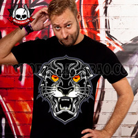 Free real rushed short shipping 2014 personalized fashion doodle trend of the lion king combed cotton short-sleeve t-shirt male
