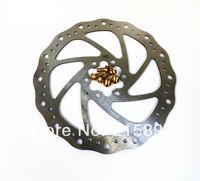 1 pcs Bike Disc rotors bicycle brakes disc brake rotor 180mm + 6 pcs Ti Tianium Gold Bolts