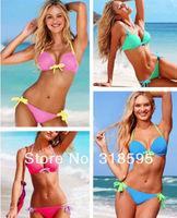 Hot Sexy Women Top Bikini Push-up Padded Swimsuit Bathing Suit Swimwear  6 Colors 3 Sizes