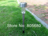 Waterproof Outdoor Stainless steel solar  led lamps outdoor garden lighting for lawn decoration 10pcs/lot free shipping