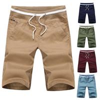 Hot Sale Summer Man's Casual Shorts Slim Knee-Length Straight Shorts For Men Fashion Elastic Waist Shorts Man's Pants PT-091