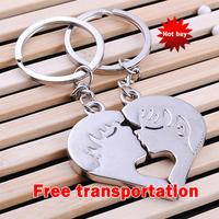 Metal keychain gift couple keychain love key chain keychain