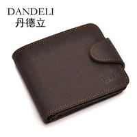 Men's hasp wallet sand male wallet male short design wallet