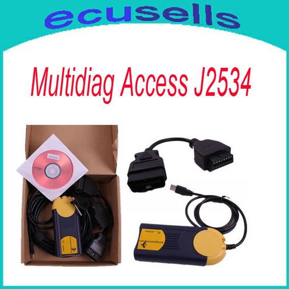 2014 New Arrivals High quality Multi-Di@g Access J2534 Pass-Thru OBD2 Device V2011 J2534 Pass Thru Device Fast Shipping(China (Mainland))