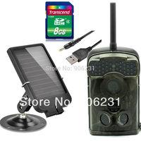 Free Shipping!8GB Ltl Acorn 940nm Ltl-5310MG Ltl-5310WMG 44 IR LED Trail SMS MMS GPRS hunting scouting camera+6V Solar Battery