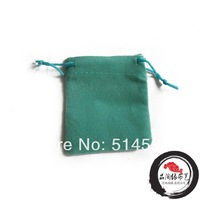 Free Shipping 100pcs/Lot 5.8x7cm Soft Green Color Jewelry Velvet Gift Packaging Bags & Pouches