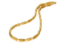 OLL JEWELLERY 18K Gold plated Bamboo Link chain Men Necklace Classice Style Factory Price, width 5.33mm length 50cm 612