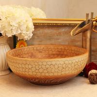 Art basin counter basin lavendered wash basin wash basin - sculpture